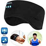 Bluetooth Headband Wireless Sleep Headphones, TOPOINT Music Sports Sleeping Headband Headphones for Workout, Jogging, Yoga, Black