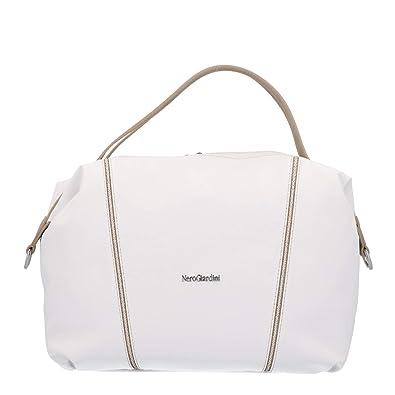 Nero Giardini Bauletto borsa donna bianco P945045D: Amazon