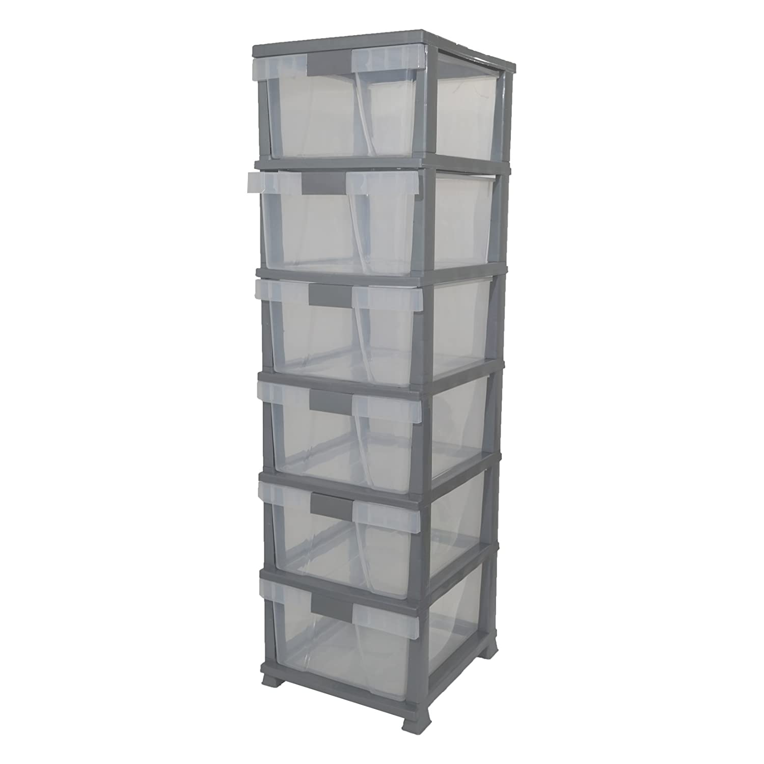 Drawer Plastic Tower Storage Unit Home Office Bedroom Organiser Multi A A Amazon Co Uk Kitchen Home