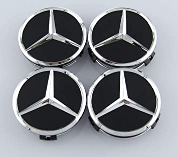 guoyuanzed Set Of 4 pcs 60mm Wheel Center Caps Hubcaps For Audi Black