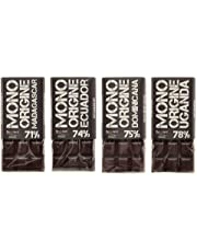 Beppiani, Tavolette di Cioccolato Fondente MONORIGINE –  Madagascar, Ecuador, Rep. Dominicana, Uganda – Cioccolato Artigianale – Set da 4