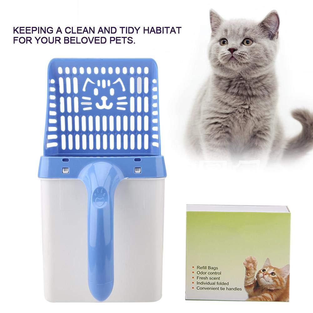 Pssopp Cuchara para Basura para Gatos, Herramientas para la Limpieza de la Pala para Gatos, para Mascotas, para Gatos Tamiz de Basura para tamiz Estofador ...