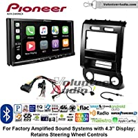 Volunteer Audio Pioneer AVH-2440NEX Double Din Radio Install Kit with Apple CarPlay, Android Auto and Bluetooth Fits 2015-2016 Ford F-150, 2017 Ford F-250