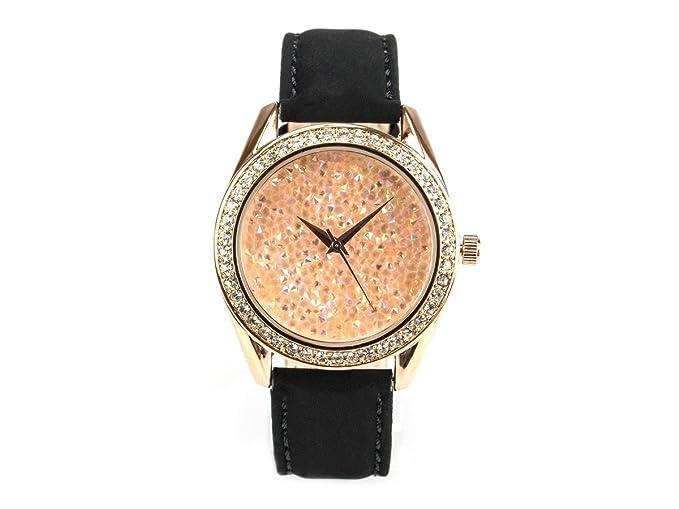"Bella joya Mujer Reloj ""Paris, funkelnde Glamour de reloj, rotgoldenes Caja"