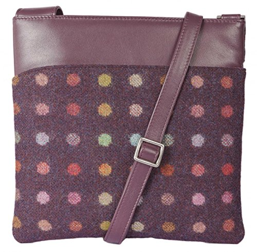 Main Britannique Sac Prune Cuir Collection Sac à bandoulière Spot Abertweed à Mala x1qgPEw4w