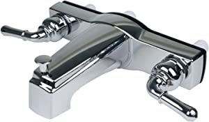 (H&H) New Chrome Non-metallic faucet - RV/Mobile Home Bath Tub Shower Faucet with 8 in Valves - 1pack