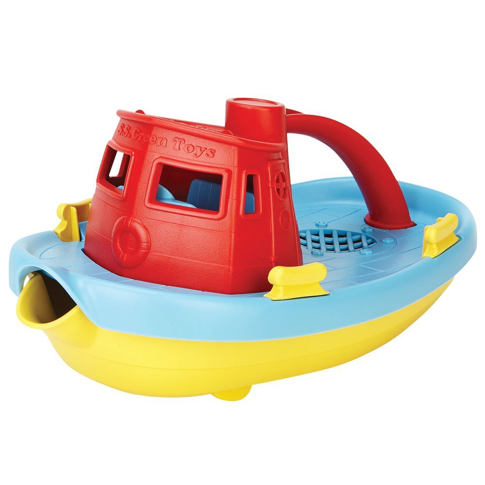 Green Toys My First Tug Boat, Red