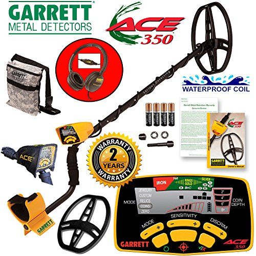 Ground Search Detector (Garrett Ace 350 Metal Detector Discovery Pack with 8.5x11