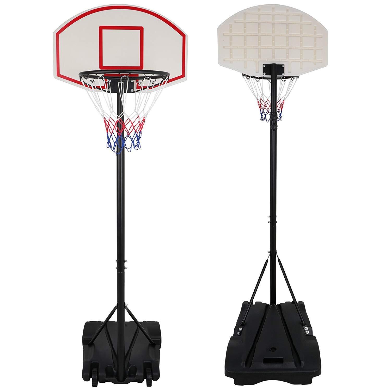 Nova Microdermabrasion Portable Basketball Hoop Stand Backboard System Adjustable-Height W/Wheels 5+ Years Kids Goal Indoor Outdoor 6.9ft (Black) by Nova Microdermabrasion (Image #3)