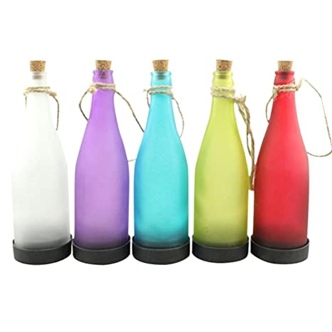 Paquete de 5 botella lámpara Solar LED entremêlement colgante decoración Light Light Multicolor cis-57597