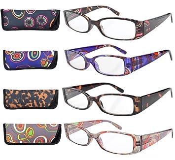 03c07f2768 Women Reading Glasses - Geometric Design - Set of 4 Colours (+3.00 ...