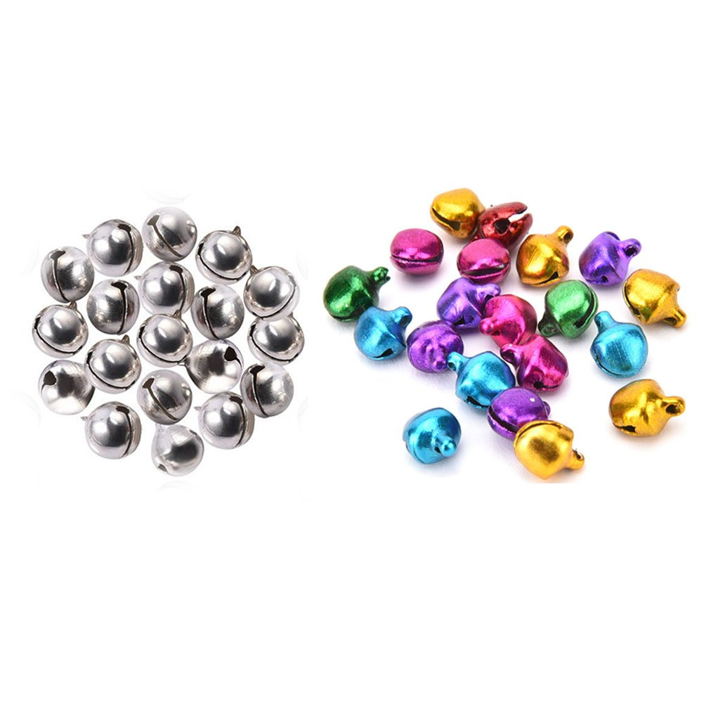 BESTIM INCUK 10mm Jingle Bells Bulk for Christmas Decorations Ornaments Jewelry Making Crafts, Multicolor, Pack of 150