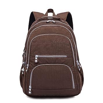 Amazon.com: Backpacks Women School Backpack for Girls Female Laptop Bagpack Travel Bags,coffee,27CMX13CMX37CM 1368: guangdongzhouxingkejiyouxiangongsi