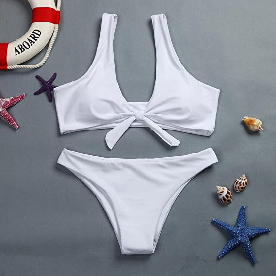 LILICAT® 🍀 Conjunto de Bikini Estampado para Mujer Ropa Traje de Baño Dos Piezas con Lazo de: Amazon.es: Deportes y aire libre