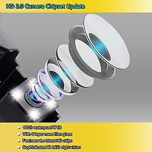 EWAY Rear View Backup Cameras for JEEP Wrangler 2007-2018 Waterproof Reverse Reversing IR Night Vision Backing License Plate Cameras(Black, 1 Pack) (Color: Black, Tamaño: Small)