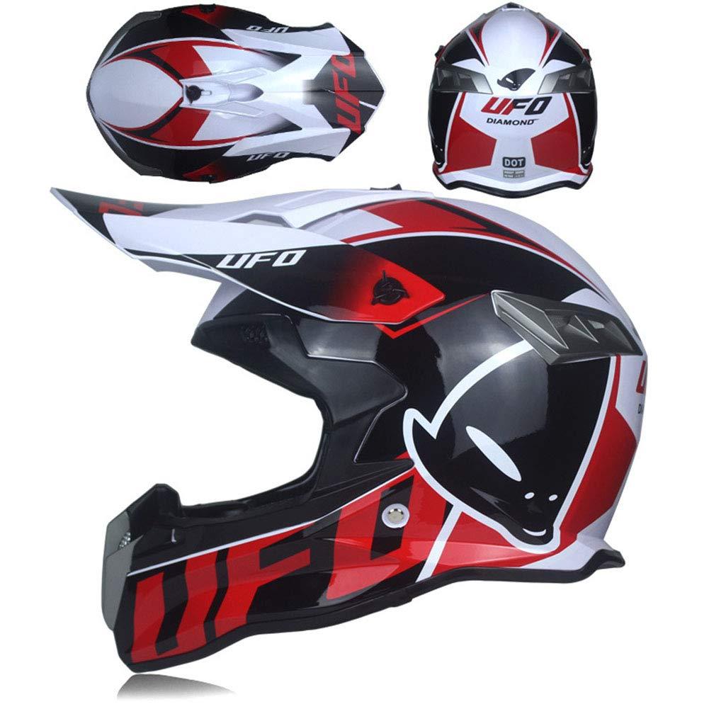 WZFC Casco Motocross Eduro Homologado Casco De Moto Cross Integral para Mujer Hombre Adultos (Modelo-UFO-2): Amazon.es: Deportes y aire libre