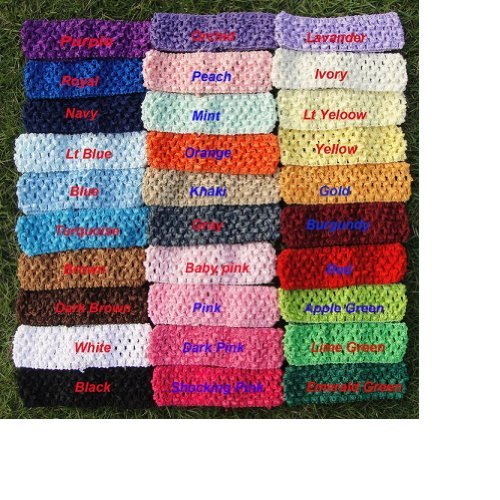 Amazoncom 20 15 Crochet Headbands You Pick Colors For Baby Girls