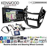Volunteer Audio Kenwood DNX574S Double Din Radio Install Kit with GPS Navigation Apple CarPlay Android Auto Fits 2015-2016 Chevrolet Trax