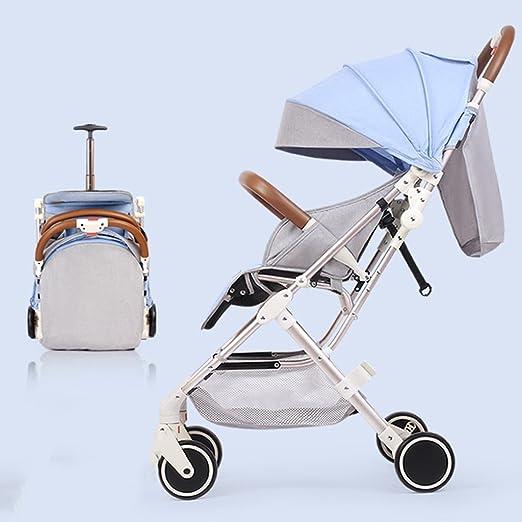 QQB &Carro Plegable Cochecito de bebé Sentado Inclinado ...