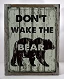 Framed Don't Wake the Bear Metal Sign