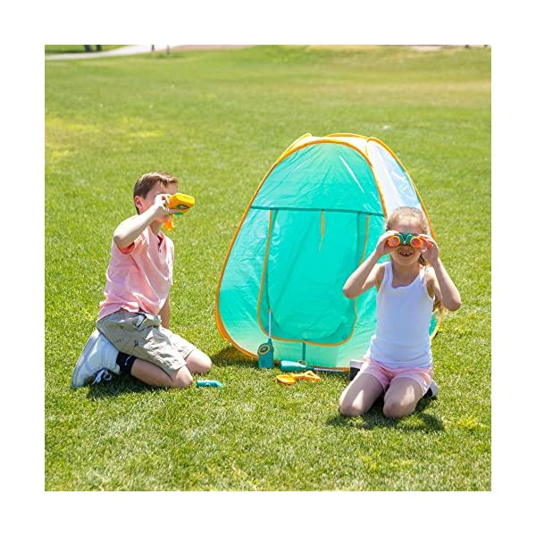 watch a2808 91ed2 ToyVelt Kids Camping Tent Set Toys - Includes Pop Up Play ...