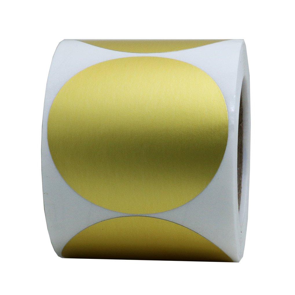 Hybsk oro etichette 5, 1 cm Round color Coding Dots adesivi etichetta 300 etichette per rotolo 1cm Round color Coding Dots adesivi etichetta 300etichette per rotolo