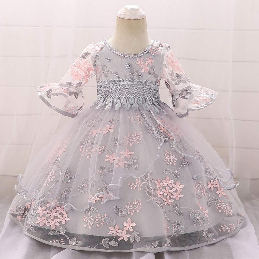c7ee9aefc1 Baby Princess Party Dress Tulle Wedding Bridesmaid Christening Dress for 0-18  Months Dresses Wanshop ® Baby Girls Dresses