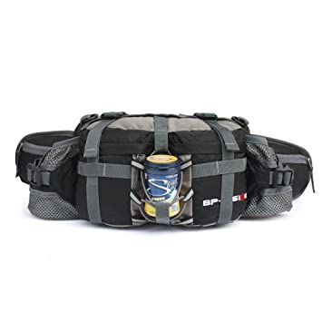 AFFINEST Men s Waist Bag Water Resistant Bumbag Fanny Pack Travel Bum Bag  Running Belt for Traveling 6839efab6b12