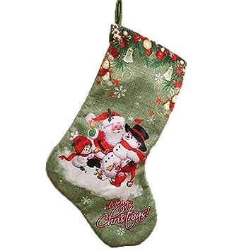 Amazon.com: FANRENYOU - 1 bolsa de regalo de Navidad con ...