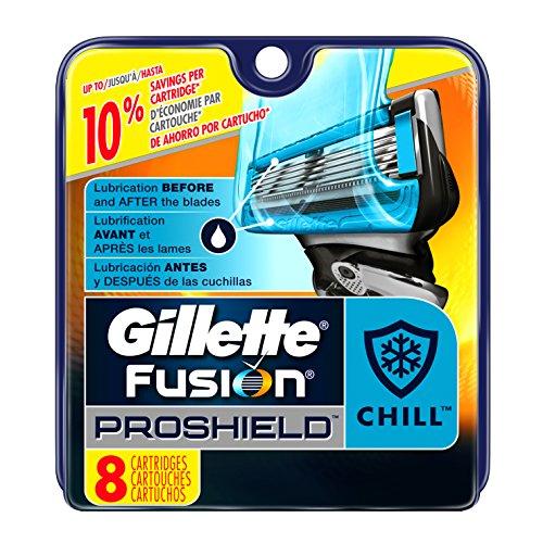 Gillette Fusion ProShield Chill Men's Razor Blade Refills, 8 Count (Gillette Blades Proglide compare prices)