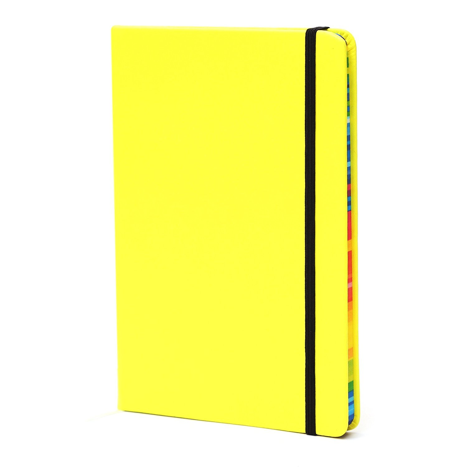 BIOBAY Classic Ruled Travel Notebook | Hardcover Writing Journal and Diary - Premium Lined Paper and Durable Design - 192 Pages - Assorted Fluorescent Colors GRANDEGO