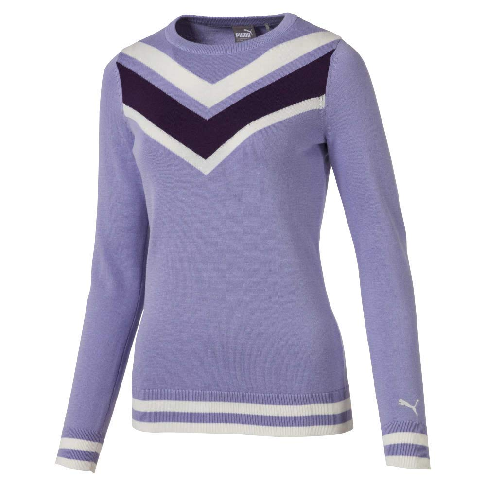 Puma Golf Women's 2019 Chevron Sweater, Sweet Lavender, Large by PUMA