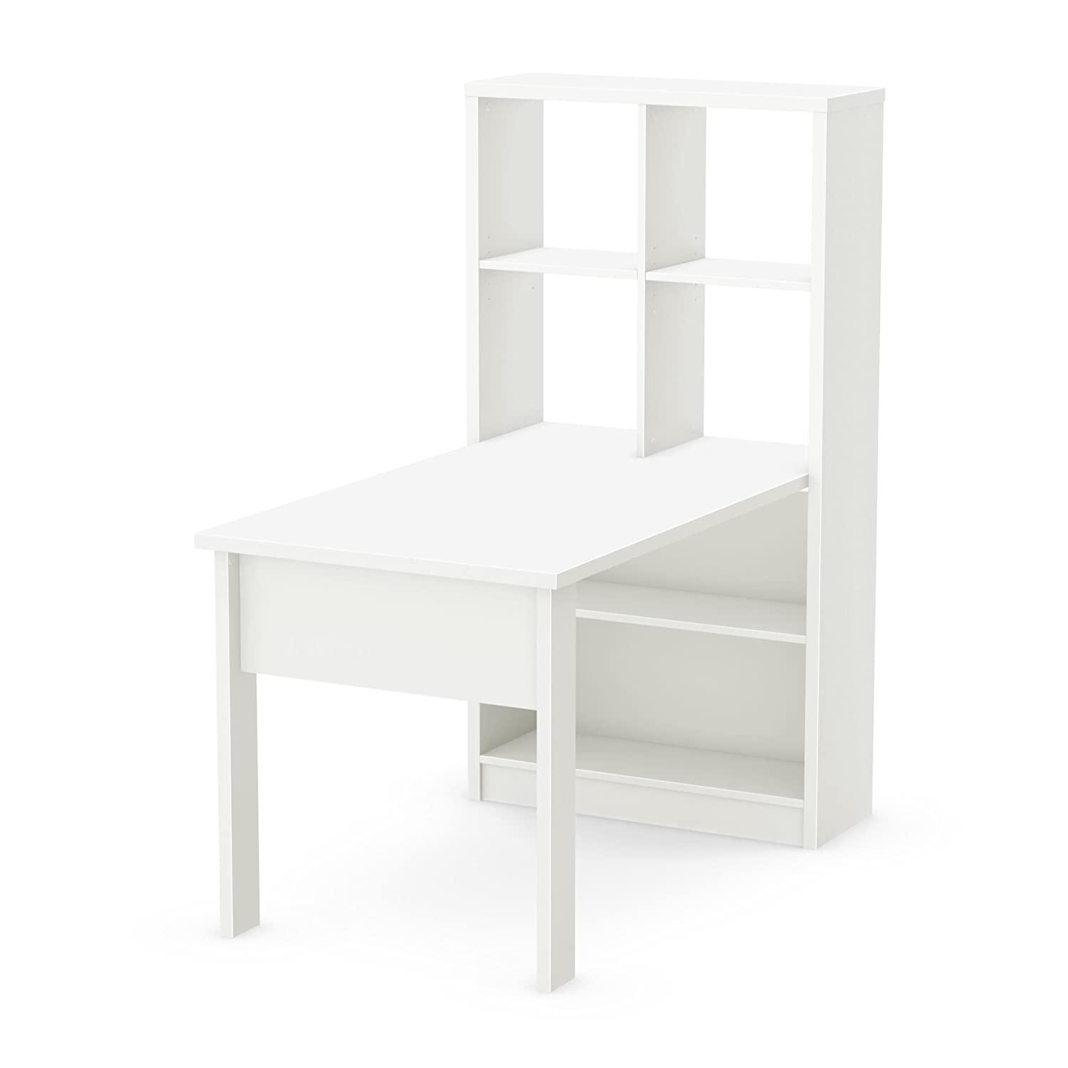 Amazon.com: South Shore Annexe Work Table And Storage Unit Combo, Pure White:  Kitchen U0026 Dining