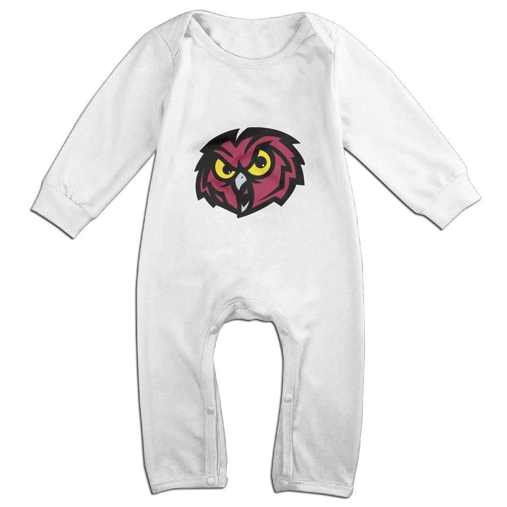 Cute Temple University Owls Romper For Newborn Baby White