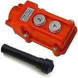 URBEST Up/Down 2 Ways Hoist Crane Push Button Switch COB-61 Rain-proof ABS Shell