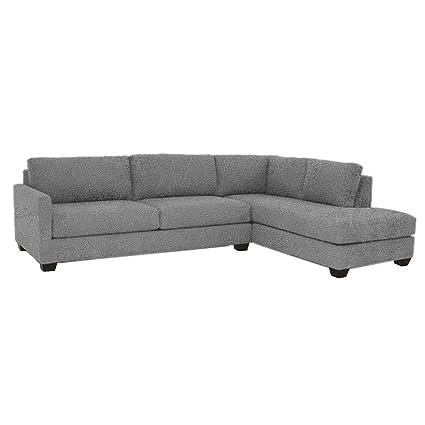 Amazon.com: Tuxedo 2-Piece Sectional Sofa, Smoke, RAF - Chaise on ...