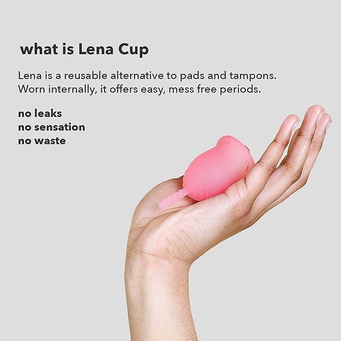 Lena Cup - Copa Menstrual - Made in USA - Alternativa a tampón y compresa/toalla - Protección Femenina de Higiene - Pequeña - Rosada