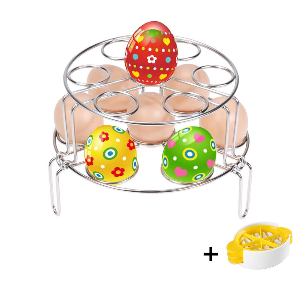 Stackable Egg Steam Rack Stand for Pressure Cooker 2 Pack YidaLife Steamer Rack for Instant Pot Stainless Steel Steaming Stand