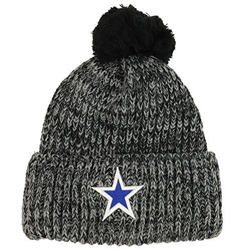 Trendy Apparel Shop Dallas Lone Star Embroidered Ribbed Knit Pom Pom Long Cuff Beanie
