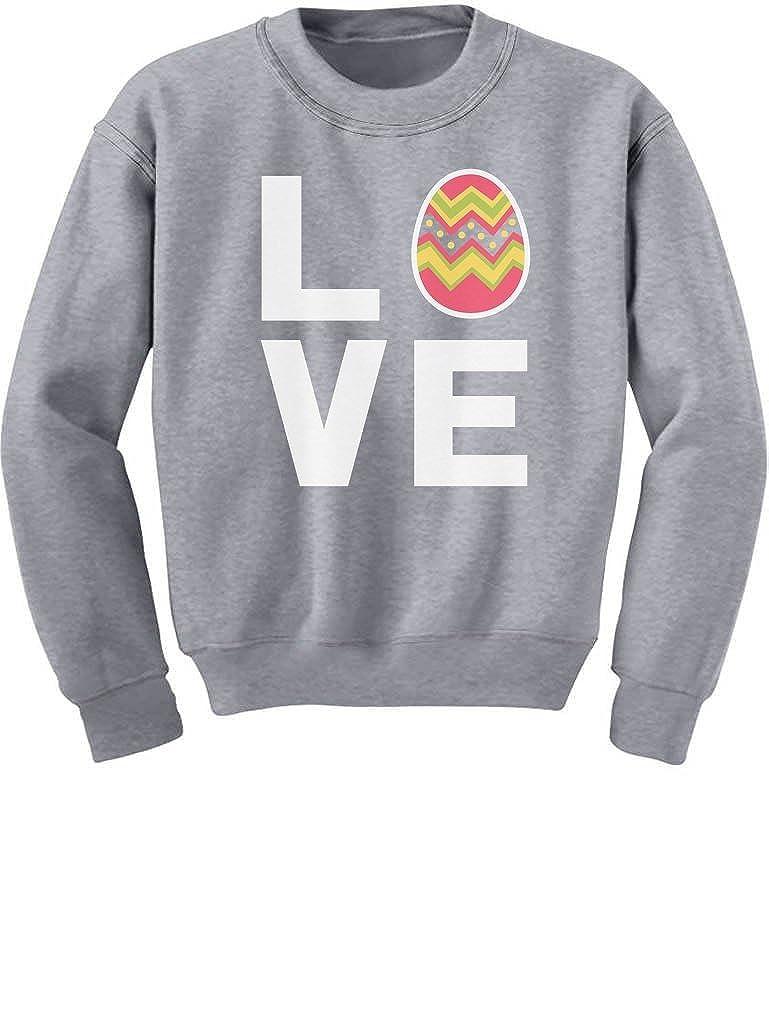 Festive Decorated Easter Egg Cute Kids Sweatshirt I Love Easter TeeStars