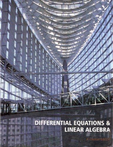 Differential Equations & Linear Algebra (Custom Edition)