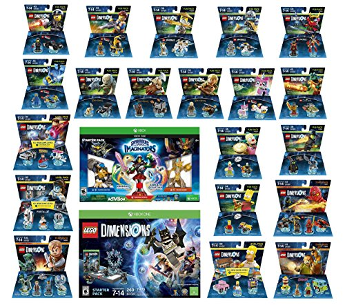 Skylanders Imaginators Starter Pack + Lego Dimensions Starter Pack + The Simpsons Homer + Scooby Doo + Portal 2 + Jurassic World + Back To The Future + 14 Fun Packs Xbox One or Xbox One S Console by WB Lego