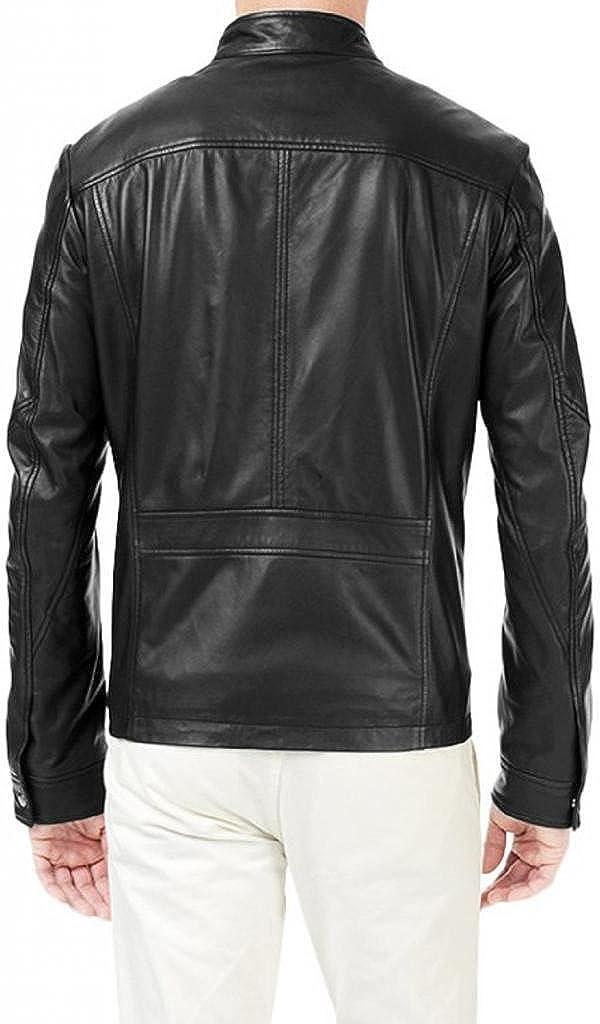 Pristine Leather Mens Leather Jacket Slim Fit Genuine Lambskin Biker Motorcycle