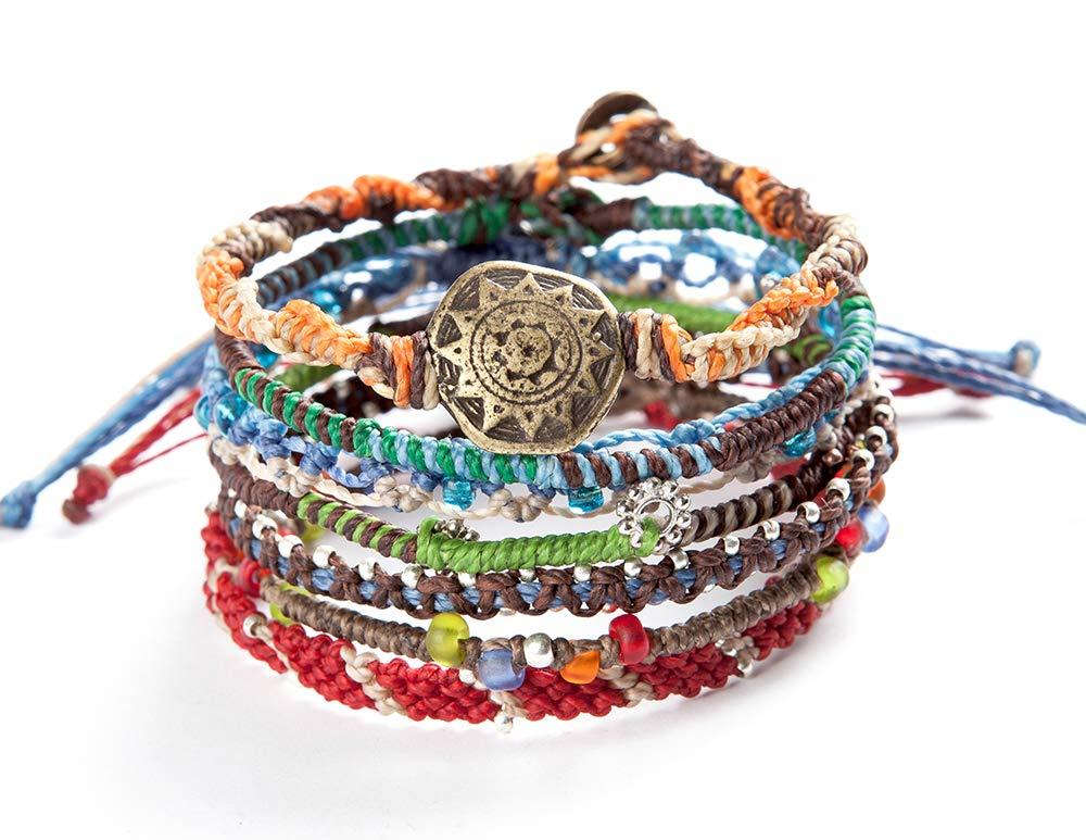 Wakami Earth Bracelet, 6.5-7'' Multi Color Classic 7 Strand wa0389
