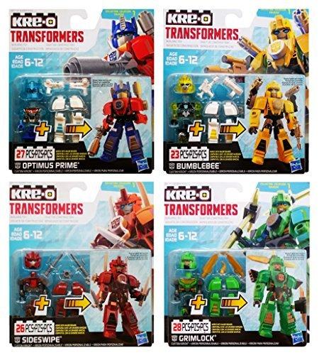 KRE-O Transformers Custom Kreons Collection 1: Optimus Prime, Bumblebee, Sideswipe & Grimlock