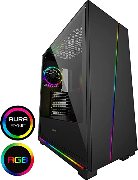 Game Max Gravity Argb PC Gaming Case, ATX, 3 x 120 mm Razor Fans ...