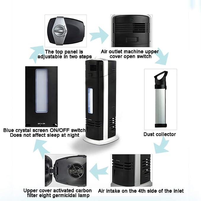 DW&HX Purificador de Aire Prefiltro Y Hepa + Filtro de, para alergias, Bacterias, Molde, Polvo, Mascotas Dyer, Humo, Polen, Olores, para Habitaciones grYes, ...