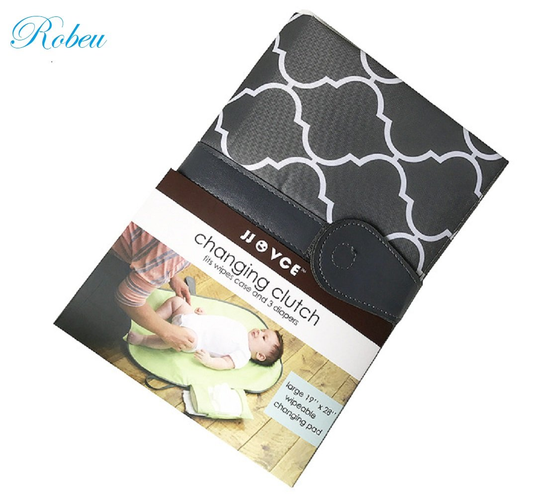 Waterproof Portable Baby Nappy Changing Mat with Storage Pockets Diaper Clutch Lightweight Travel Station Kit for Baby Diapering (1)