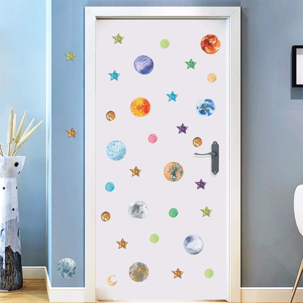 Universo espacial pegatinas de pared para niños habitación ...