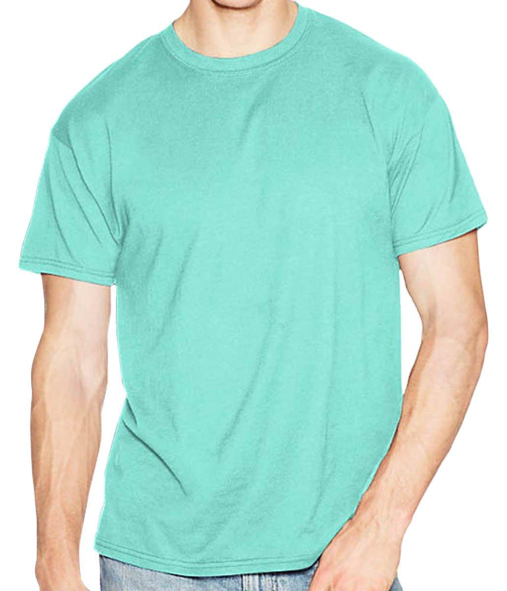 Hanes Men's X-Temp Crewneck Short-Sleeve T-Shirt (3X), Clean Mint